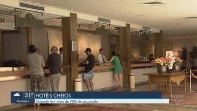 Hotéis da Baixada Santista registram 85% de ocupação - Devido ao feriado da cidade de São Paulo, muitos turistas aproveitaram para descer a serra.
