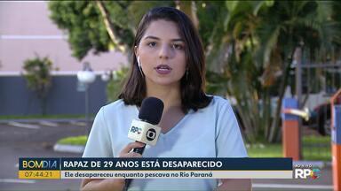 Rapaz de 29 anos desapareceu no Rio Paraná - Ele estava pescando quando sumiu.