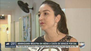 Araraquara amplia atendimento em unidades de saúde - Medida é para acelerar o atendimento, diagnóstico e tratamento de pacientes com dengue.