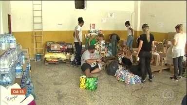 Voluntários recolhem e entregam água e alimentos em Brumadinho - Objetivo é que as famílias afetadas tenham acesso aos insumos com mais rapidez. Pessoas de outras regiões também participam do movimento.