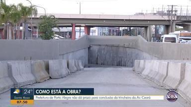 Prefeitura de Porto Alegre não dá prazo para conclusão da trincheira da avenida Ceará - Assista ao vídeo.