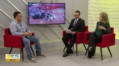 Entenda qual o efeito da lama de rejeito de minério para a natureza, no ES - Professor de geologia da Ufes Alex Bastos que é coordenador da rede Rio Doce Mar explicou o assunto.