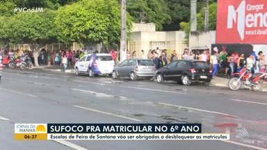 Sufoco: pais enfrentam dificuldades para matricular filhos em escoals de Feira de Santana - Escolas da cidade vão ser obrigadas a desbloquear as matrículas.