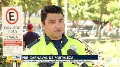 Confira esquema de trânsito para o Pré-Carnaval de Fortaleza - Cinco linhas de ônibus vão levar foliões dos terminais ao Aterro da Praia de Iracema.