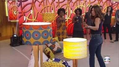 Artista cria peças de decoração com tecidos africanos - Adriana Barbosa, especialista em empreendedorismo, dá dicas para Monique alavancar o negócio