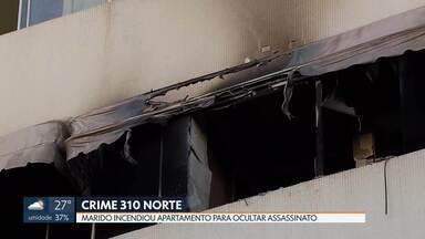 Corpo de mulher que foi morta pelo marido na Asa Norte ainda não foi liberado pelo IML - Polícia está convencida de que o marido colocou fogo no apartamento do casal para tentar ocultar o assassinato da mulher a facadas.