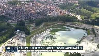 São Paulo tem 66 barragens de mineração - Na Zona Norte, no bairro de Perus, é onde fica a maior barragem da capital. Moradores dizem que não receberam treinamento de emergência.
