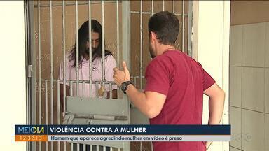Homem que aparece em vídeo agredindo mulher é preso em Ponta Grossa - Ele se apresentou na delegacia da cidade e foi transferido para a cadeia.
