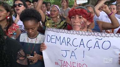 Índios protestam contra a ocupação de territórios indígenas no Maranhão - O dia foi de manifestação de indígenas em todo o Brasil.