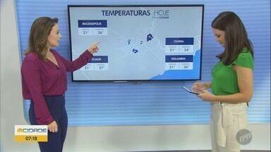Confira a previsão do tempo para Campinas e região nesta sexta-feira (01) - Máxima de 35° C em Campinas (SP).