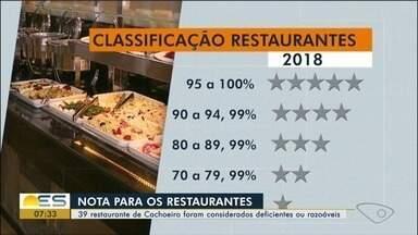 Restaurantes de Cachoeiro de Itapemirim são avaliados por vigilância sanitária - Os estabelecimentos receberam um nota.