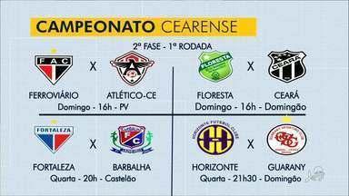 Ceará e Fortaleza estreiam no Campeonato Cearense - Fábio Pizzato comenta os destaques do bloco de Esportes.