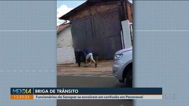 Funcionários da Sanepar se envolvem em briga após discussão no trânsito - Caso foi em Paranavaí.