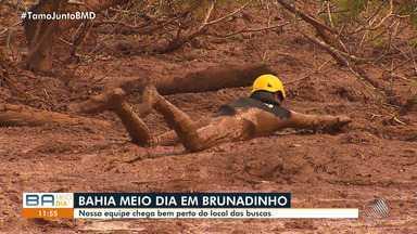 BMD em Brumadinho: seis baianos seguem entre os desaparecidos da tragédia em Minas - A reportagem da TV Bahia foi a Brumadinho acompanhar a situação dos baianos desaparecidos na tragédia.