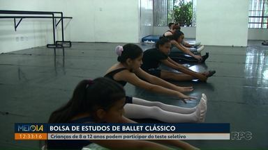 Escola Municipal de Dança faz seleção para alunos bolsistas - Crianças de 8 a 12 anos podem participar do teste seletivo.