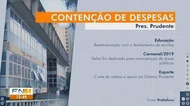 Crise financeira afeta contas da Prefeitura de Presidente Prudente - Gastos com a Secretaria Municipal de Comunicação aumentaram quase 65%.
