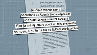 Ex-deputado é suspeito de usar esquema de furar fila do SUS para conseguir votos - A RPC teve acesso a novos trechos da investigação em que o ex-deputado Ademir Bier é suspeito de usar esquema para conseguir votos.
