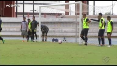 Remo treina no Mangueirão, local do jogo contra o Tapajós - Com o estádio liberado, Leão chega à reta final de preparação para o confronto de domingo
