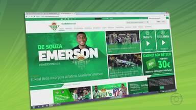 Emerson se despede do Atlético-MG, que tenta a contratação do atacante Diego Tardelli - Lateral foi contratado pelo Barcelona e emprestado ao Bettis; clube tenta trazer ídolo da torcida a tempo da Libertadores