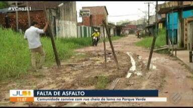 Problema de saeamento não foi resolvido no bairro do Parque Verde - Comunidade da rua Teotônio Vilela denuncia situação no quadro 'Calendário JL'