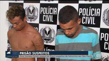 Suspeitos de latrocínio em São Paulo são presos no Piauí - Suspeitos de latrocínio em São Paulo são presos no Piauí