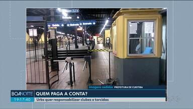Urbs quer responsabilizar clubes e torcidas pelo prejuízo com as brigas - Um quebra-quebra no terminal do Pinheirinho pode custar caro para o Athetico, Coritiba e as torcidas organizadas.