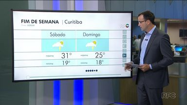 Tempo muda neste final de semana em Curitiba e região - Domingo máxima não passa dos 25 graus.