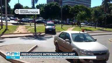 Presidiários baleados são internados no Hospital Regional de Taguatinga - Os dois detentos do presídio de Santo Antônio do Descoberto se envolveram em uma rebelião, na última quinta (31/01), e foram baleados por um vigilante.