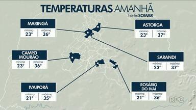 Frente fria se aproxima do Paraná e deve trazer chuva no fim de semana - Confira a previsão do tempo
