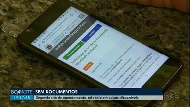 Agendamentos para fazer a identidade não estão disponíveis, em Guarapuava - Quem precisa do documento com urgência precisa procurar as cidades vizinhas.