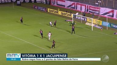 Vitória e Jacuipense empatam e Bahia de Feira lidera a tabela do Campeonato Baiano - Confira as últimas notícias da disputa, que tem o clássico Ba-Vi no próximo domingo (3).