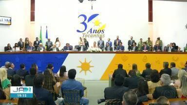 Deputados estaduais tomam posse e elegem Toinho Andrade novo presidente da AL - Deputados estaduais tomam posse e elegem Toinho Andrade novo presidente da AL