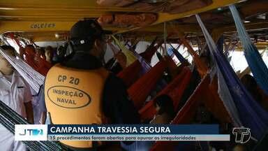 Operação 'Travessia Segura' encerra com mais de 290 abordagens a embarcações em Santarém - Operação encerrou na quinta-feira (31). Em Santarém, foram 15 dias de fiscalizações. 14 procedimentos foram abertos para verificação de irregularidades.