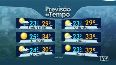 Veja as variações das temperaturas no Maranhão - Confira a previsão do tempo nesta segunda-feira (4) em São Luís e também no interior do estado.