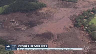 Quatro pessoas são presas por aplicar golpes e usar drones sem autorização em Brumadinho - Um homem é suspeito de arrecadar equipamento e dinheiro enganando as vítimas.