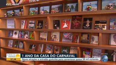 'Casa do Carnaval' comemora um ano com programação especial - A 'casa do carnaval' é um museu dedicado à festa baiana.