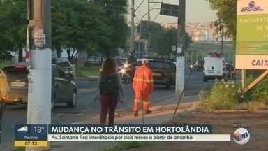 Obras interditam a Avenida Santana em Hortolândia; veja mudanças no trânsito - Trabalhos serão feitos na via para prevenção de enchentes.