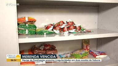 Merenda: equipe de fiscalização encontra irregularidades em escolas de Itabuna - Em alguns casos foram encontradas até merendas vencidas.