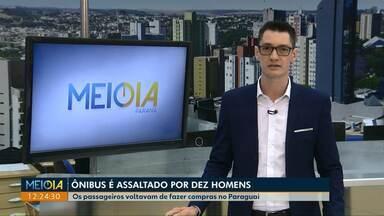 Ônibus de sacoleiros é assaltado por dez homens na BR-277 - Os criminosos estavam em cinco carros e atiraram no ônibus que voltava do Paraguai.