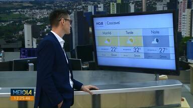 Temperatura pode chegar aos 32 graus neste sábado - Não tem previsão de chuva.