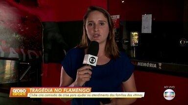 Flamengo cria comissão para ajudar as famílias das vítimas do incêndio - Flamengo cria comissão para ajudar as famílias das vítimas do incêndio