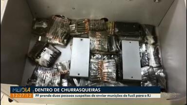 PF prende duas pessoas suspeitas de enviar munições de fuzil do PR para o RJ - As munições estavam escondidas em churrasqueiras elétricas na região de Cascavel.