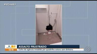 Criminosos quebram parede de banco e arrombam cofre sem dinheiro, em Tucuruí - Tentativa de furto aconteceu na madrugada deste sábado (9). Eles renderam a moradora da casa atrás do banco na ação criminosa.