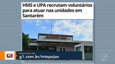 Recrutamento de voluntários para a UPA e HMS é destaque no G1 Santarém e Região - Veja essas e outras notícias do G1 Santarém e Região pelo celular, tablet e computador.