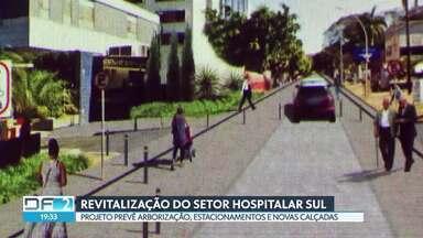Governo diz que vai revitalizar Setor Hospitalar no fim da Asa Sul - Projeto prevê arborização, estacionamentos e novas calçadas no local até o fim do ano.