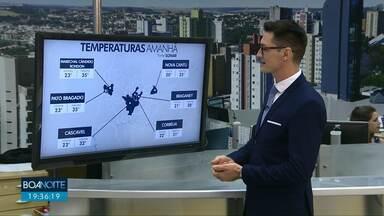 Domingo de sol e calor em Cascavel - As máximas vão passar dos 30 graus.