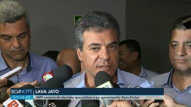 MPF recorre de decisão que soltou o ex-governador Beto Richa - Ele foi solto na semana passada depois de uma decisão do STJ.