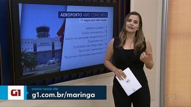 Aeroporto de Maringá abre concurso para 7 cargos - As inscrições serão abertas no dia 20 deste mês.
