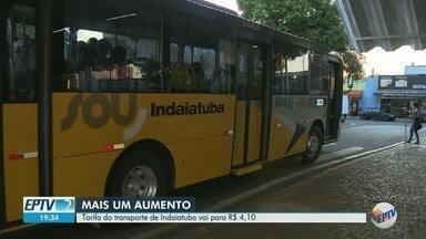 Aumento de tarifa de ônibus passa a valer neste domingo em Indaiatuba - Passagem vai aumentar de R$3,50 para R$4,10.
