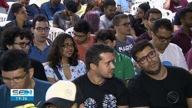 Apaixonados por tecnologia participam de evento de aplicativo de celular - Evento ocorreu neste sábado (9), em Aracaju.